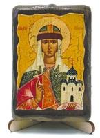Ольга, Св. Княгиня, икона под старину, на дереве (8x10)