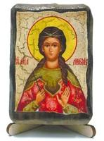 Любовь, Св.Мч., икона под старину, на дереве (8x10)
