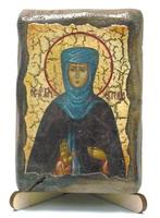 Евгения, Св.Муч., икона под старину, на дереве (8x10)