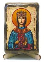 Екатерина Александрийская, Св.Вл.Мч., икона под старину, на дереве (8x10)