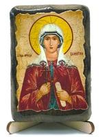 Валентина, Св.Муч., икона под старину, на дереве (8x10)