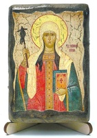 Нина Св.Рн.Ап., икона под старину, на дереве (8x10)
