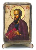 Апостол Павел, икона под старину, на дереве (8x10)