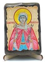 Виктория, Св.Муч., икона под старину, на дереве (8x10)