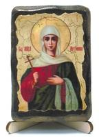 Антонина Св.Мч., икона под старину, на дереве (8x10)
