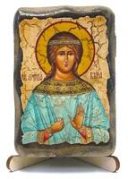 Вера, Св.Муч., икона под старину, на дереве (8x10)