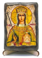 Тамара, Св.Муч., икона под старину, на дереве (8x10)