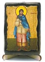 Никита, епископ Новгородский, икона под старину, на дереве (8x10)