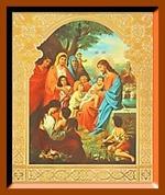 Благословение детей. Малая аналойная икона