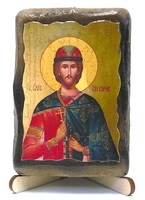 Борис, Св.Муч., икона под старину, на дереве (8x10)