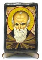 Максим Исповедник, икона под старину, на дереве (8x10)