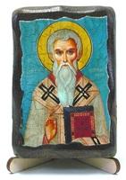 Евгений, Св.Мч., икона под старину, на дереве (8x10)