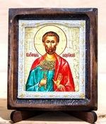 Богдан (Феодот) Св.Мч., Икона Византикос, полуоклад, 8Х6