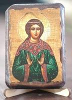 Надежда, Св.Муч., икона под старину, сургуч (8 Х 10)