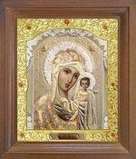 Казанская Б.М. Икона в деревянной рамке с окладом (Д-25псо-08)