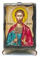 Богдан (Феодот), икона под старину, на дереве (8x10)