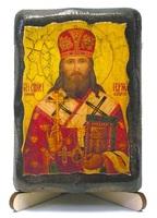Герман, епископ Алатырский, икона под старину, на дереве (8x10)
