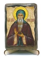 Олег Брянский, Св. Бл. Князь, икона под старину, на дереве (8x10)