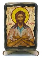 Алексий, человек Божий, икона под старину, на дереве (8x10)