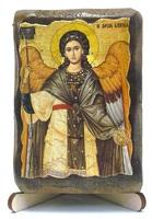 Архангел Гавриил (пояс), икона под старину, на дереве (8x10)