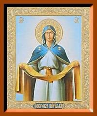 Покров (поясной). Малая аналойная икона