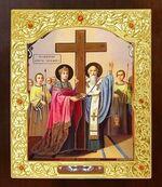 Воздвижение креста Господня. Икона в окладе средняя (Д-21-85)