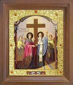 Воздвижение креста Господня. Икона в деревянной рамке с окладом (Д-26псо-85)