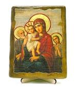 Трех Радостей Б.М., икона под старину, на дереве (13х17)