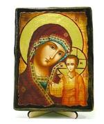 Казанская Б.М., икона под старину, на дереве (13х17)