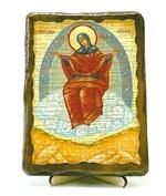 Спорительница хлебов Б.М., икона под старину, на дереве (13х17)