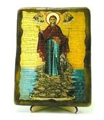 Афонская Б.М. (Игуменья Святой горы), икона под старину, на дереве (13х17)
