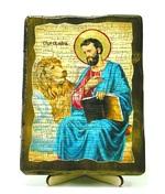 Апостол Марк, икона под старину, на дереве (13х17)