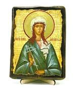 Иулия Анкирская, Св.Мч, икона под старину, на дереве (13х17)