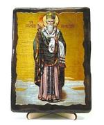 Спиридон Тримифунтский (рост), икона под старину, на дереве (13х17)