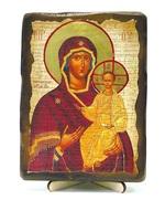Смоленская Б.М., икона под старину, на дереве (13х17)