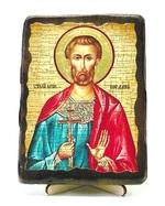 Богдан (Феодот), икона под старину, на дереве (13х17)
