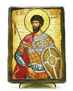 Виктор, Св.Муч, икона под старину, на дереве (13х17)