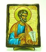 Апостол Петр, икона под старину, на дереве (13х17)
