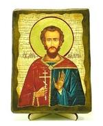 Валерий, Св.Муч, икона под старину, на дереве (13х17)