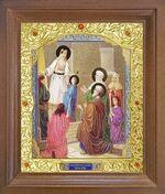 Введение во Храм Пресвятой Богородицы. Икона в деревянной рамке с окладом (Д-26псо-88)