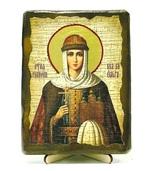 Ольга, Св.Княгиня, икона под старину, на дереве (13х17)
