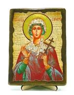 Гликерия, Св.Муч, икона под старину, на дереве (13х17)