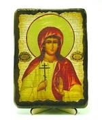 Алла, Св.Мч, икона под старину, на дереве (13х17)