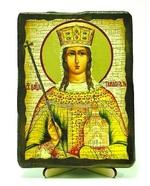 Тамара, Св.Муч, икона под старину, на дереве (13х17)