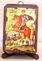 Дмитрий Солунский, икона под старину, сургуч (8 Х 10)