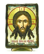 Спас нерукотворный, икона под старину, на дереве (13х17)