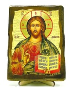 Спаситель, икона под старину, на дереве (13х17)