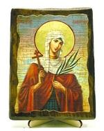 Валентина, Св.Муч, икона под старину, на дереве (13х17)