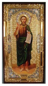 Иоанн Предтеча (рост), с багетом. Большая Храмовая икона (58 х 110)