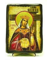 Елена, Св.Муч, икона под старину, на дереве (13х17)